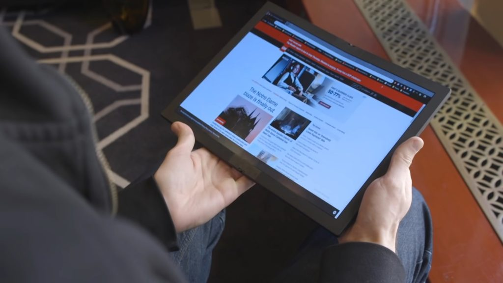 Lenovo ThinkPad X1 Fold — первый ноутбук с гибким OLED-дисплеем